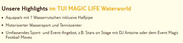 Club Magic Life Waterworld