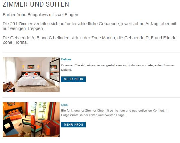 ClubMed Turquoise Zimmer