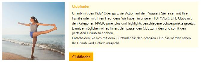 Tui Magic Life Clubfinder