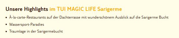Tui Magic Life Sarigerme
